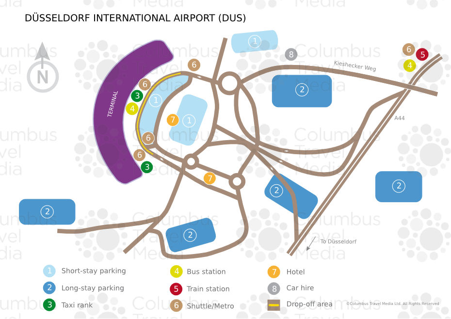 Parkeren vliegveld Dusseldorf